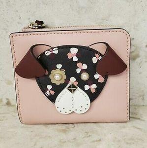 NWT Kate Spade ♠️ Floral Pup🐶 wallett